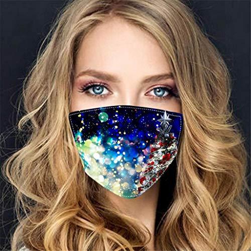 BOMING Mundschutz Stoff Staubschutz Waschbar Winddicht Wiederverwendbare Gesichtsschutz für Herren Damen