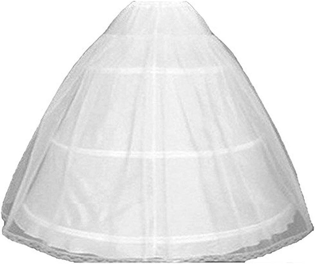 BRL MALL 3 Hoops Ruffle Crinoline Petticoat Flower Girl Wedding Underskirt Slip