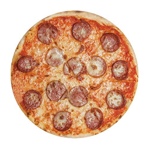 AlexHoumie Manta de pizza 3D, redonda, gruesa, de doble cara, toalla de playa, decoración del hogar, tapete de picnic, alfombra para interiores, exteriores, viajes, camping (180 x 180 cm, A)