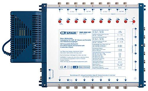 Spaun SMS 9982 NFI 8 SAT-ZF Basis-Multischalter für 8 Teilnehmer, kaskadierbar