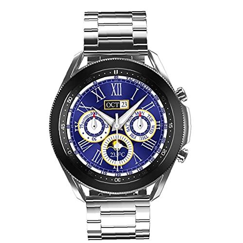 nJiaMe Llamadas Inteligente Aptitud del Reloj Reloj del perseguidor Impermeable de los Deportes W3 Inteligente Bluetooth de Banda Hombres Mujeres de Acero de Plata de la Correa