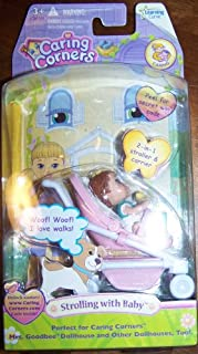 Strolling with Baby Caring Corners Dollhouse Play Set with Infant and Stroller by Learning Curve