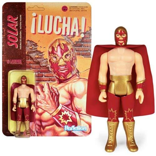 SUPER7 Legends of Lucha Libre Reaction Action Figure Solar 10 cm Wrestling