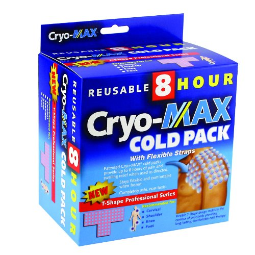 CryoMAX Cold Pack, Reusable, Latex Free, 8 Hour Cold Therapy, Professional Series, T-Shape (1 Count)