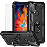 BestShare For Moto G50 Case with Tempered Glass Screen