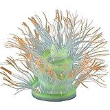 JIAJBG Plantas de Acuario Artificial, Planta de Anémona de Mar Artificial Aquario Grande Tanque de Pescado Plantas Plásticas Decoraciones Simulación Plantas Adorno Decoración Orange