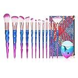 Anself 13Pcs Brochas de Maquillaje Multifuncionales, Juego de Pinceles de Maquillaje para sombra de...