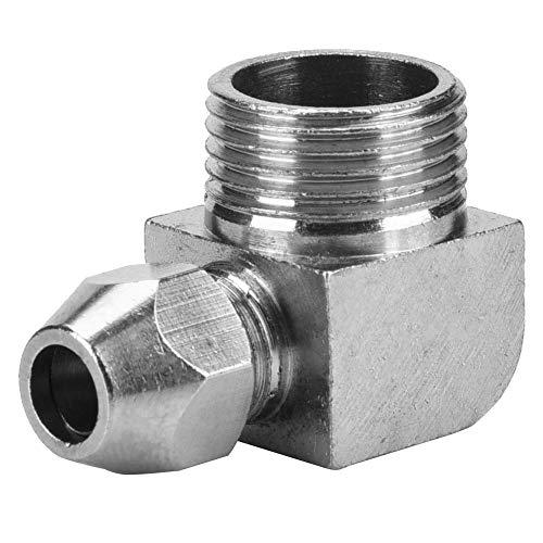 5 unids 90 grados macho rosca manguera de aire adaptador rápido conector acoplador de junta (3/8' 10mm)