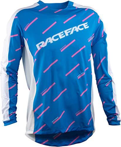 Race Face Maillot de VTT à manches longues Ruxton Bleu Taille L