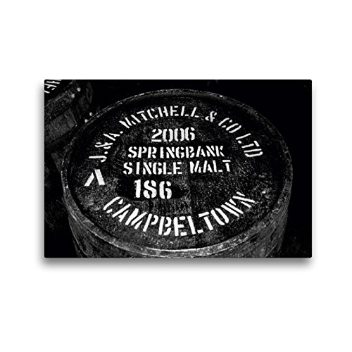 CALVENDO Premium Textil-Leinwand 45 x 30 cm Quer-Format Springbank Whisky-Fass, Leinwanddruck von Ralf Kaiser