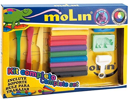 Molin SPTL977 - Set plastilina con 17 accesorios