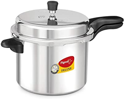 Pigeon - Pressure Cooker - 7.5 Liters - Deluxe Aluminum Outer Lid Stovetop & Induction - Cook delicious food in less time: soups, rice, legumes, and more!