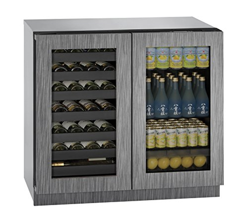 U-Line U3036BVWCINT00A Built-in Beverage Center and Wine Storage, 36', Stainless Steel