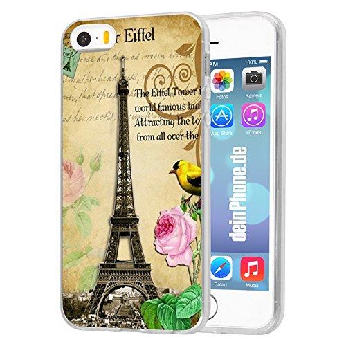 iPhone 4 4S Hardcase Eiffelturm Rosa Blume