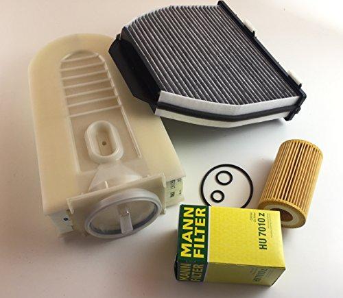 Inspektionsset Ölfilter Luftfilter Aktivkohlefilter W204 S204 C204 W212 S212 A207 X204 200 CDI 220 CDI 2143ccm - bitte Einschränkungen beachten