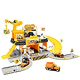 Construction Toys Garage Building Playset - Race Track Elevator Cars, Learning Toy Vehicle Indoor Games Family Assembly Parking Lot, Light & Sounds Gift for Age 3 4 5 6 Years Old Kids Boys Girls
