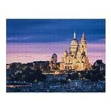 Rompecabezas de 500 piezas para adultos Basílica Sagrado Corazón Sacre Montmartre Rompecabezas de madera (50 * 35cm)