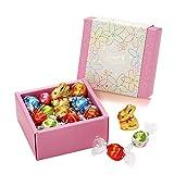 リンツ (Lindt) チョコレート スプリング リンドールクラシックギフトボックス 20個(ピンク) ショッピングバッグS付