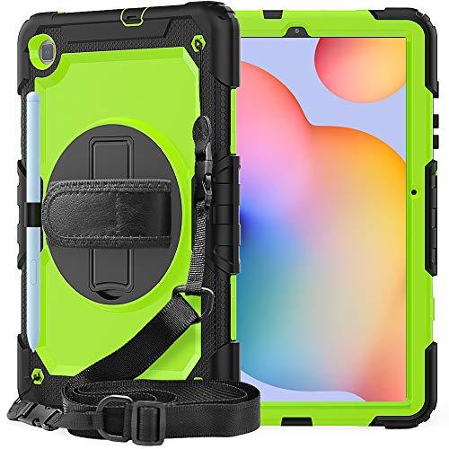 QYiD Funda para Huawei MatePad T8 8.0 Pulgada 2020 con Protector de Pantalla, Carcasa Rugosa con Soporte Rotativo Asa de Mano, Correa para el Hombro para Huawei MatePad T8 2020, Negro/Rosa