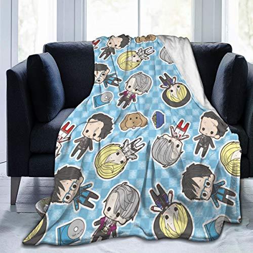 RandalSchultz Yuri On Ice Ultra-Soft Micro Fleece Blanket Flannel Blanket Soft (50'x 40', 60'x 50', 80'x 60')