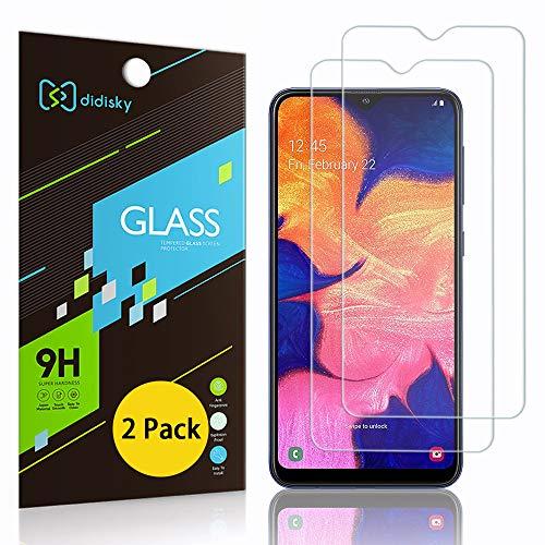 Didisky Pellicola Protettiva in Vetro Temperato per Samsung Galaxy A10,[2 Pezzi] Protezione Schermo [Tocco Morbido ] Facile da Pulire, Facile da installare, Trasparente