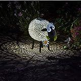 Vrtter Decoración de jardín de ovejas, luz solar al aire libre, 7 modos de luces de hadas interiores/exteriores, se utiliza para jardín, terraza, patio, familia, fiesta, boda, decoración de vacaciones