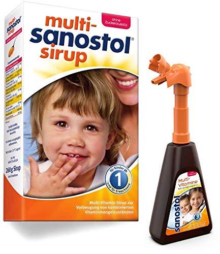 Multi-Sanostol ohne Zuckerzusatz mit Pumpspender: Multivitaminpräparat für Kinder ab 1 Jahr zur Vorbeugung von kombinierten Vitaminmangelzuständen, 260g