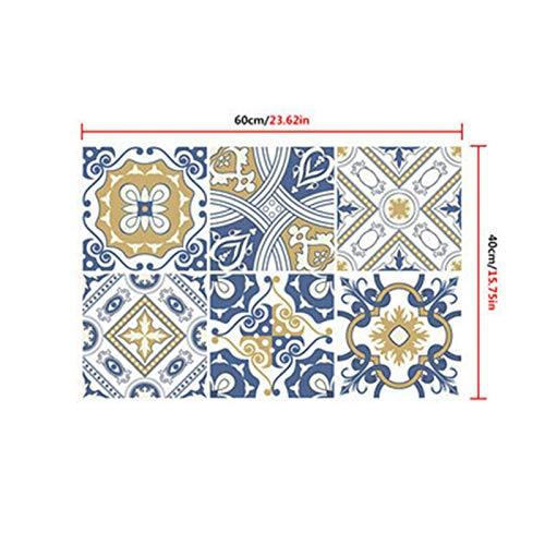 Etiqueta engomada de la pared del papel pintado Arte de la pared de azulejos decorativos Papel pintado retro de la etiqueta auto-adhesivo de azulejo a prueba de agua pegatinas de cocina muebles de bañ