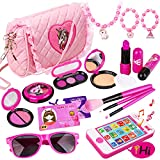 Meland Kids Makeup Kit - Girl Pretend Play Makeup & My First Purse Toy for Toddler Gifts with Pink Princess Purse,...