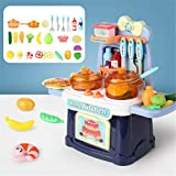 MiSha Pretend Play Toys, Lights and Sounds Toys Kids Baking Set Kitchen Simulation Toy Toddlers Role Play Kitchen Accessories Baking Gifts