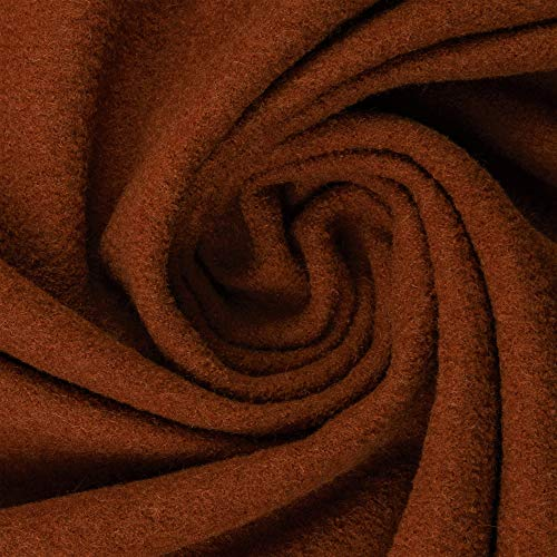Walkloden Walkstoff 100% Schurwolle, 0,5 m, Stoffe, Trachtenstoff, Meterware (Kupfer)