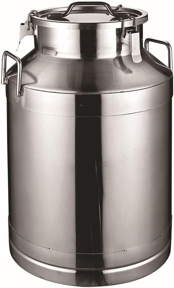 WSHA 15L-60L Contenedor de Leche de Acero Inoxidable Barril de Barril de Leche Barril de envío Lata de Leche Cubo con Tapa sellada para Almacenamiento de líquidos Granjas lecheras,60L(38x68cm)