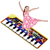 M SANMERSEN Piano Mat for Kids 43.3'' X 14.2'' Electronic Dance Mat Floor Piano Keyboard Mat Education Musical Toys Gifts for Toddlers Boys Girls