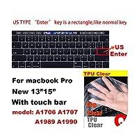 for Apple for Macbook pro 13 / 11Air 13/15 Retina 12 Inch AllシリーズキーボードカバーケースシリカゲルTPUクリアプロテクターフィルムEU/USバージョン-Q-