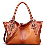 Rossie Viren Womens Cervo Antic Leather Brown Shopping Shoulder Bags/Briefcase