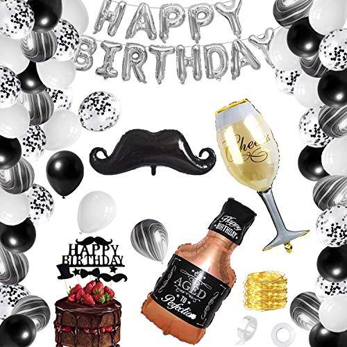 Decorazioni Compleanno Uomo,Palloncini Compleanno Uomo,Palloncini Confetti,Decorazioni di Compleanno Party,Decorazione Festa di Compleanno,Decorazioni per Feste di Compleanno Adulti