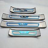 For 4 piezas de acero inoxidable for la puerta del coche for Sill Kick placas, for el Mazda CX-5 2017-2019 puerta de travesaño placa de protección for los protectores de ajuste Guardia for la cubierta