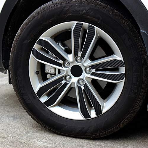 Etiquetas engomadas de la rueda del coche de vinilo de fibra de carbono Etiquetas engomadas de la decoración de la calcomanía de la llanta para KIA SPORTage 4 QL 2016 2017 2017 2017 Accesorios