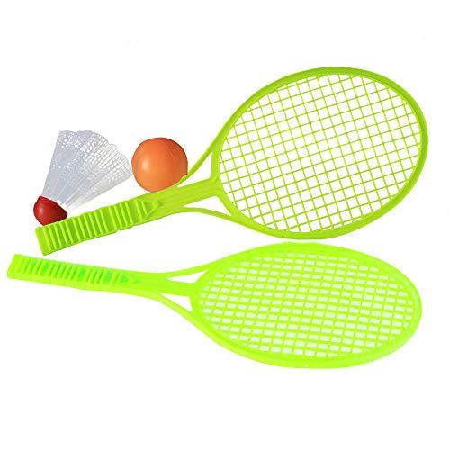 Alicer Badmintonschläger, Outdoor-Badminton-Tennisset, Anfänger-Trainingsschläger, PVC-Training Eltern-Kind-Sportspielspielzeug für Jungen Mädchen