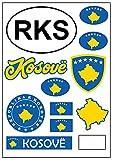 aprom Kosovo - Lámina adhesiva para coche, moto, moto, bandera de tuning