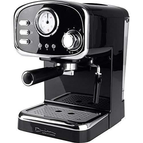 GourmetMaxx Barista Retro Espressomaschine mit Siebträger Schwarz 1100 W