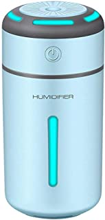 EEEXY Mini Car Air Purifier Humidifier for Car Home Lamp Aromatherapy USB Charging Auto Mist air Cleaner Machine, Blue