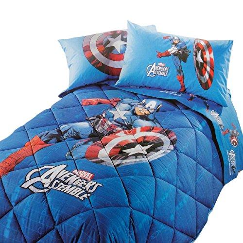 Caleffi - Edredón de invierno Capitán América Marvel individual Q036