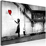 murando Cuadro Mega XXXL Banksy 165x110 cm Cuadro en Lienzo en Tamano XXL Estampado Grande Gigante Imagen para Montar por uno Mismo Decoración De Pared Impresión DIY Nina con Globo i-C-0113-ak-a