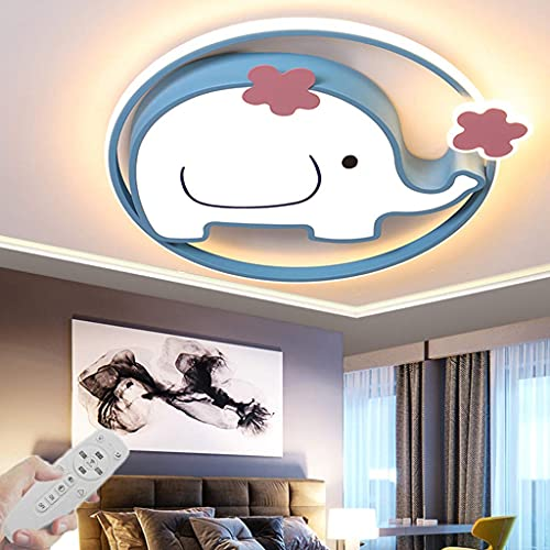 Moderne LED-Deckenleuchte für Kinderzimmer Deckenleuchte Dimmbar mit Fernbedienung Schlafzimmer Schmetterling Deckenleuchten Acrylbeleuchtung Pendelleuchte Restaurant Kronleuchter (Gelb, 65CM)