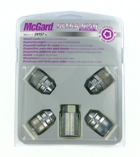 24157SL Radsicherungsmuttern SL (Ultra High Security) M12x.1.5, Kegelsitz, Gesamtlänge 32,5mm, SW19, Schlüsseldurchmesser 28,8 mm