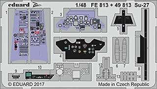 Eduard 1:48 Su-27 Color PE Detail Set for Hobby BOSS #FE813