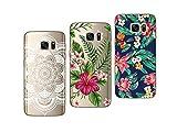 Novago Compatible avec Samsung Galaxy S7- Pack de 3 Coques Souples et Résistantes...