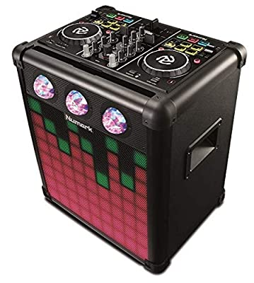 Numark Party Mix Pro | DJ Controller with Built-In Sound Reactive Light Show, Rechargeable Long-Life Portable Speaker, Easy-Pair Bluetooth Connectivity and DJ Software For Mac / PC / iOS Included