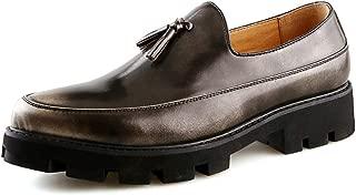 YINJIESHANGMAO Men's shoes, men's fashion casual oxford comfortable non-slip shoes, formal shoes retro tassel Men's shoes (Color : Gold, Size : 41 EU)